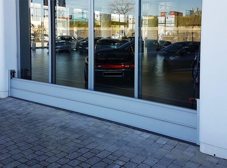 Hochwasserschutz für Schaufenster