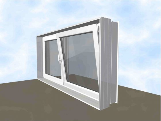 Wasserdichtes Dreh-Kipp Fenster